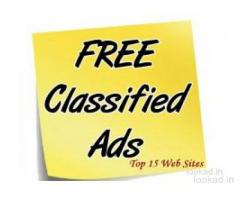 Post free ads without registration, 100% Free, Buy Sell anything free classified website