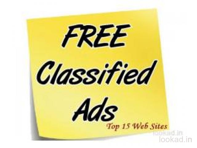Classified free ads in India, no payment, Buy Sell anything free classified website