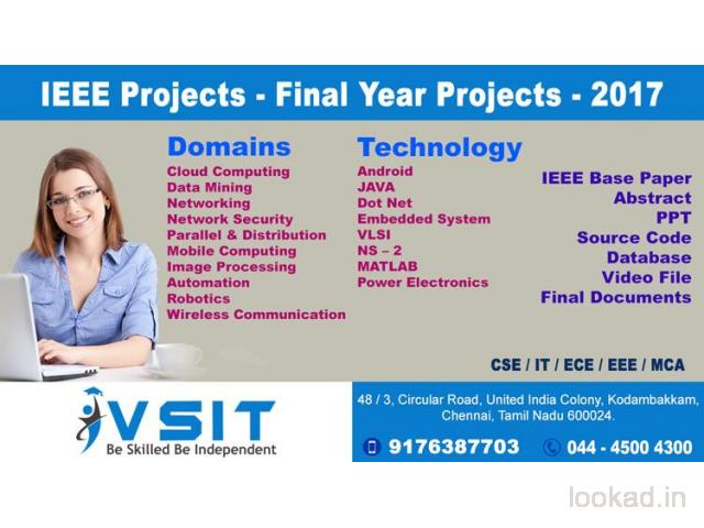 FINAL YEAR PROJECTS 2016-17 ,IEEE PROJECTS,REAL TIME DEMO PROJECT
