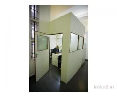 Fully Furnished & Professional Enclosed Manager Cabin for rent