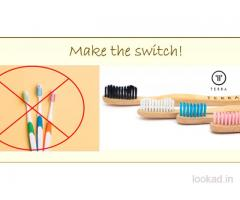 Buy Bamboo Toothbrush Pack Of 4 Online - Terrabrush.in