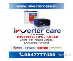 Inverter Care Luminous Inverter Dealer Kannur Thaliparamba Padiyottuchal Cherupuzha