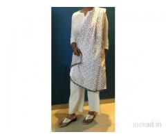 Looking for White Kota Doria Dupatta?