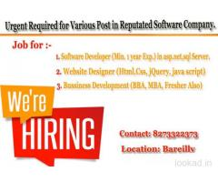 Dynamic Infotech Urgent Required Software Developer Call: 8273322373