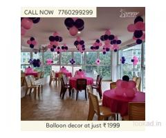 Balloon decor at Rs.1999