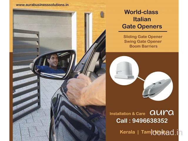 Automatic Gates Kozhikode - Remote Controlled Gates - Aura Business Solutions