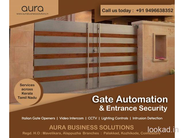 Remote Controlled Gates Malappuram - Aura Business Solutions - Automatic Gate Opener