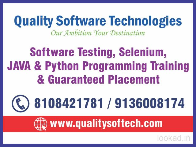 SOFTWARE TESTING COURSE, PYTHON COURSE, JAVA TRAINING INSTITUTE