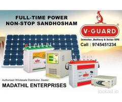SOLAR WATER HEATER, INVERTER, DISTRIBUTOR, DEALERS, KOLLAM, KERALA, V GUARD, HYKON