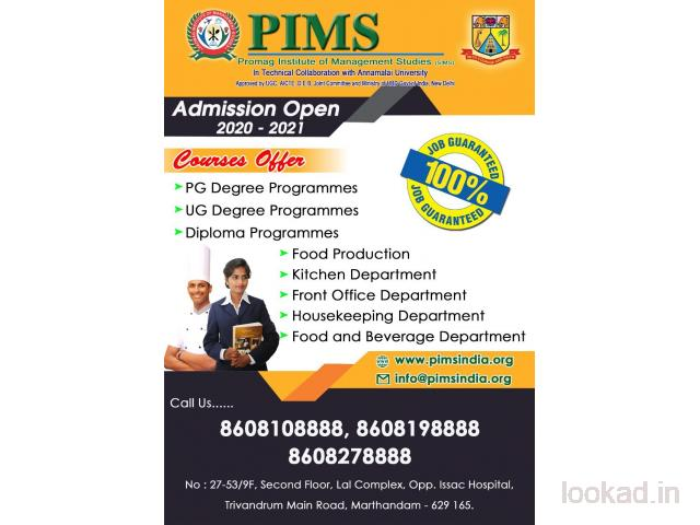 PIMS - Hotel Management Institute in Marthandam