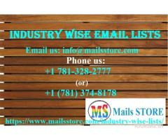 Industry Wise Email List | Industry Wise Mailing Addresses Database