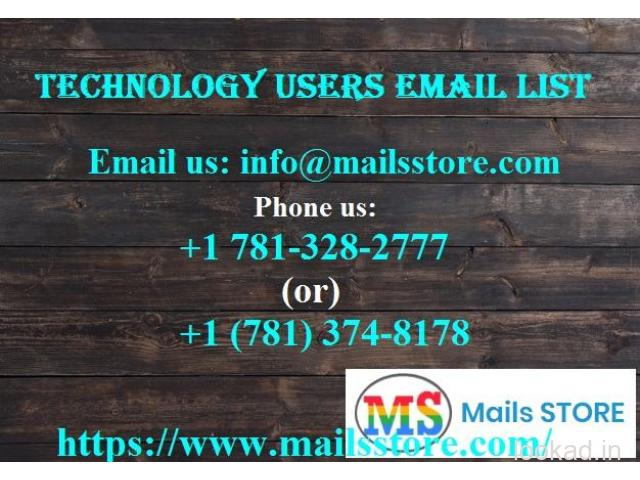 Technology Users Email Lists | Technology Users Mailing Addresses Database