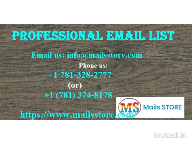 Professionals Email List | Professional Mailing Addresses Database