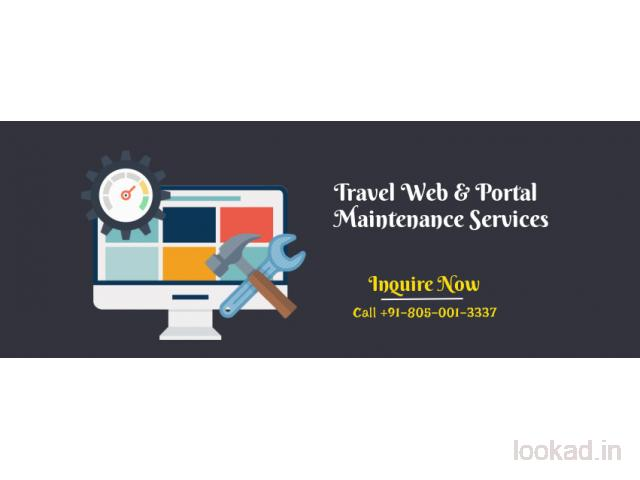 Travel portal maintenance and support services